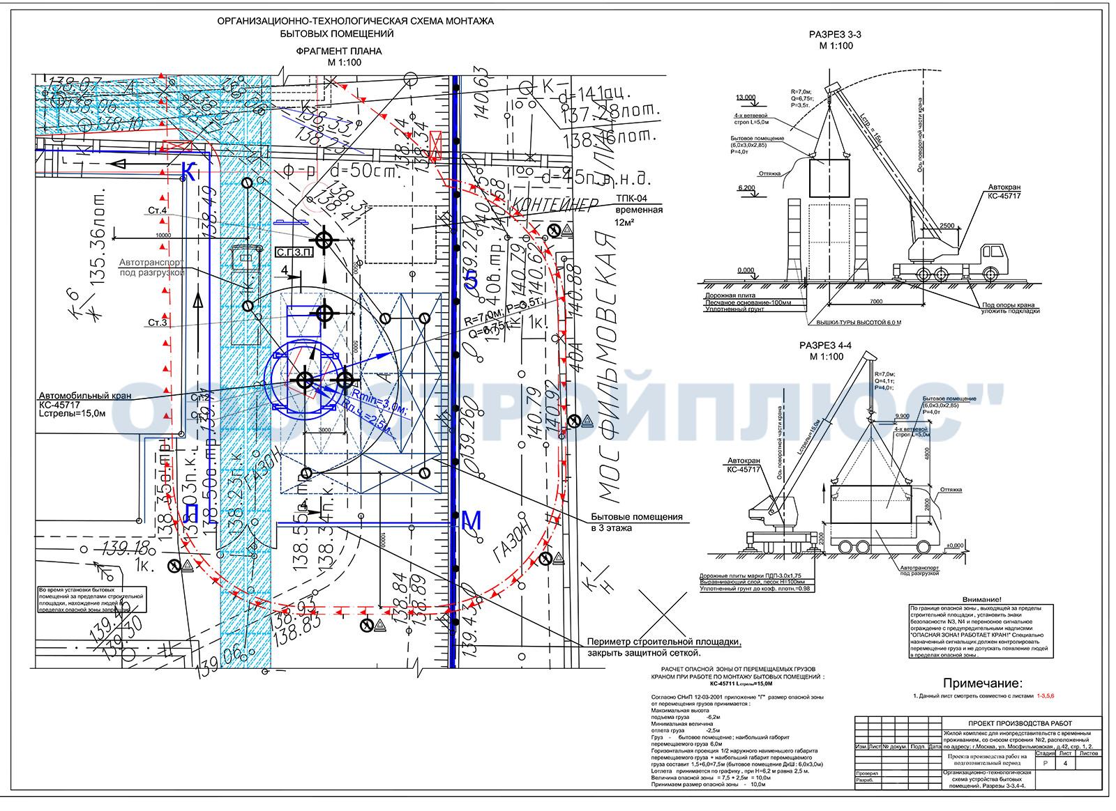 Организационно-технологическая схема состав